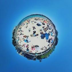 Life's a Beach - the busy world of Bondi on Boxing Day. Location: Sydney, Australia.